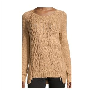 Michael Kors toffee cable knit sweater